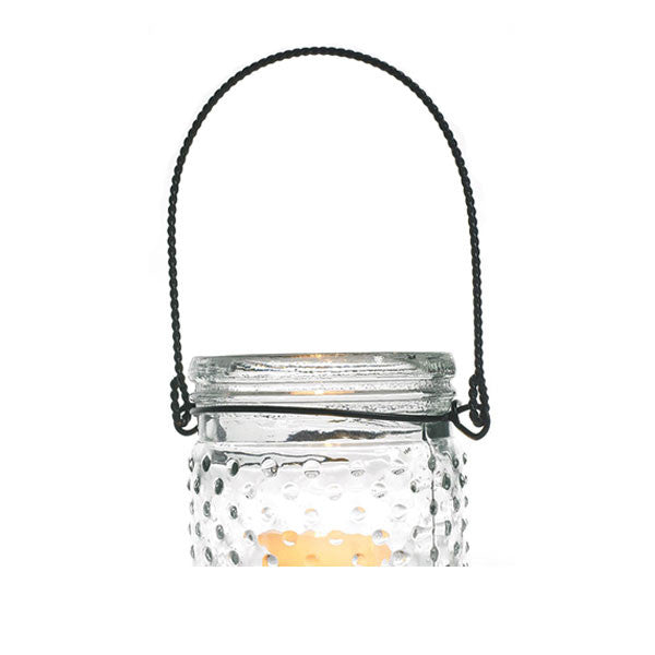 Hobnail Vase Wire Hanging Handle Rental