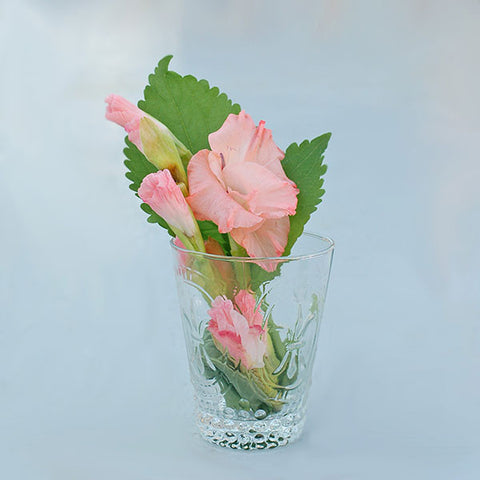 Pressed Glass Lela Vase