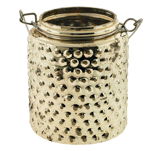 Mercury Glass Hanging Hobnail Votive Rental