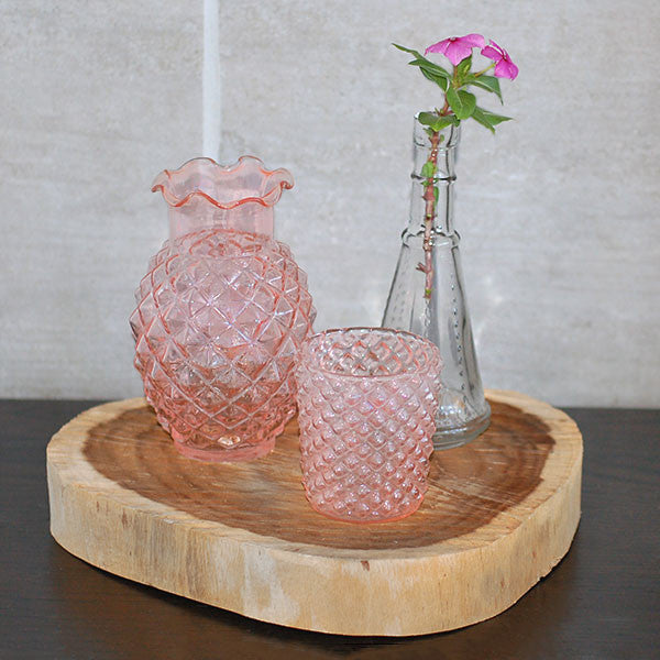 Pink Geometric Glass Votive Rental