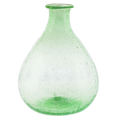 Recycled Green Glass Bulb Vase