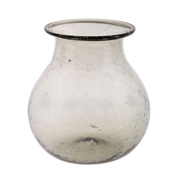 Recycled Grey Glass Vase