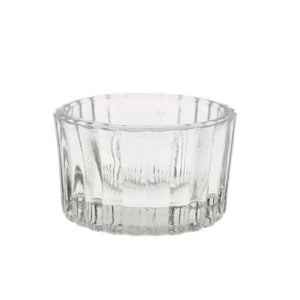 Pressed Glass Ribbed Votive Rental