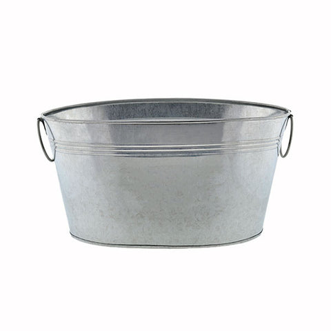 Oval Shaped Galvanized Tub Rental