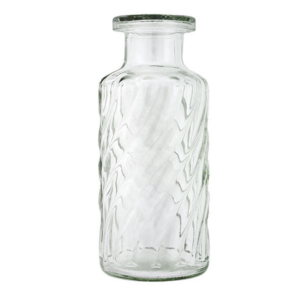 Vintage Swirled Glass Bottle