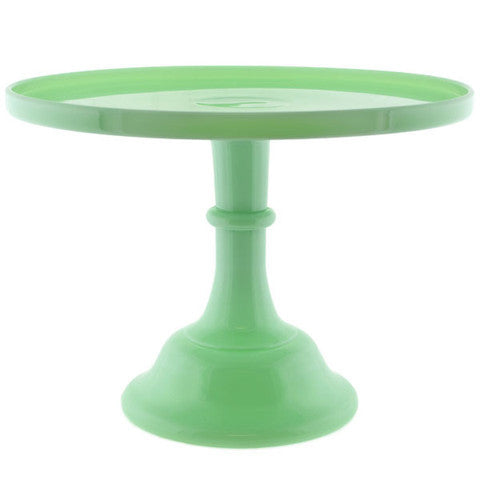 Pressed Glass Green Jade Cake Platter 12""