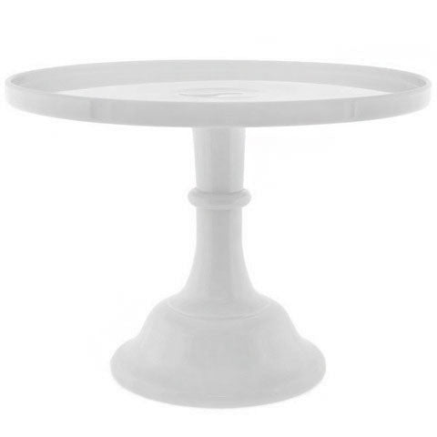"Pressed Glass White Milk Glass Cake Platter 12"" Rental"