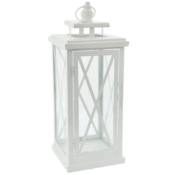 Large White CrissCross Lantern Rental