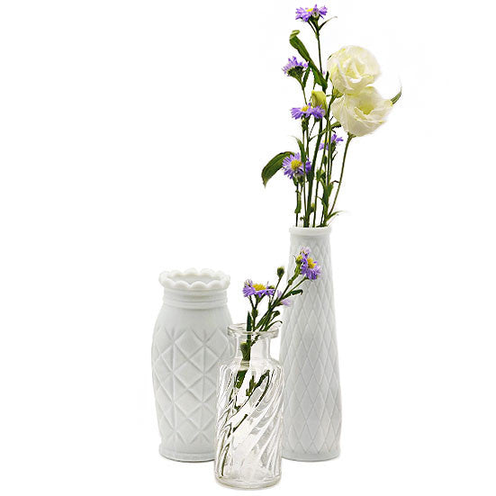 Decorative Milk Glass Bud Vase