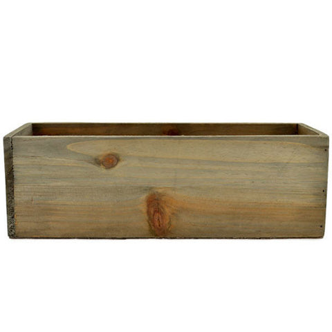 Rectangular Wooden Planter Box