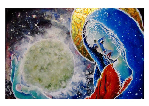 greeting card #10 - Gaia #26: S/He Who Cherishes the Moon