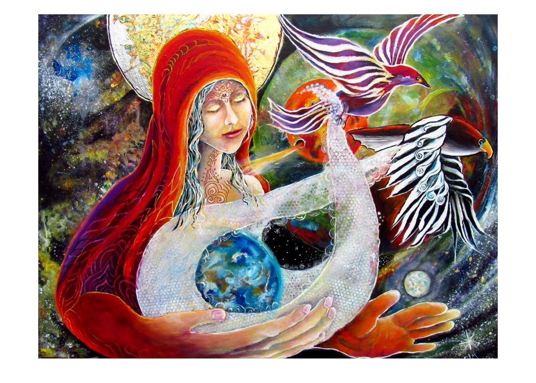 greeting card #21 - Gaia #48: S/He Who Soars into New Possibilities