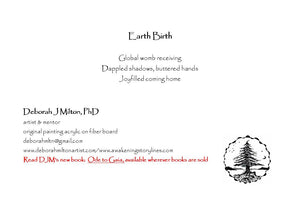 greeting card #25 - Earth Birth