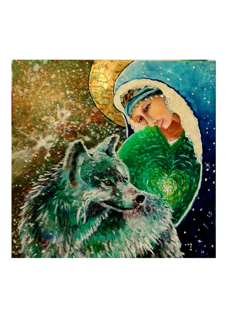 greeting card #17 - Gaia #29: S/He Who Tends the Wild Canines