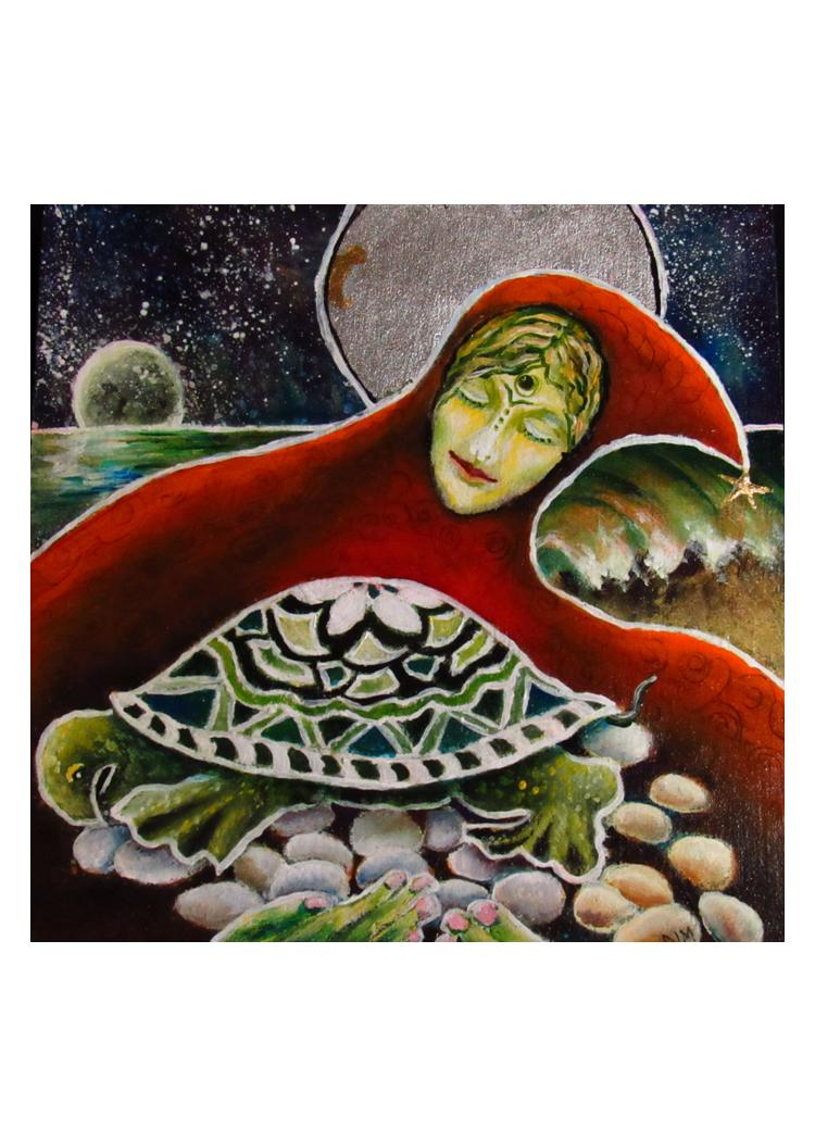 greeting card #29 - Gaia #31 - S/He Who Nurtures Life on the Edge