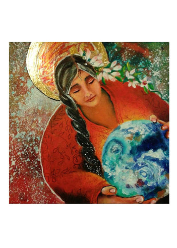 greeting card #14 - Gaia #30: S/He Who Holds All Life Tenderly