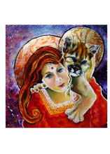 Load image into Gallery viewer, greeting card #28 - Gaia #77 - S/He Who Holds the Great Cats Dear