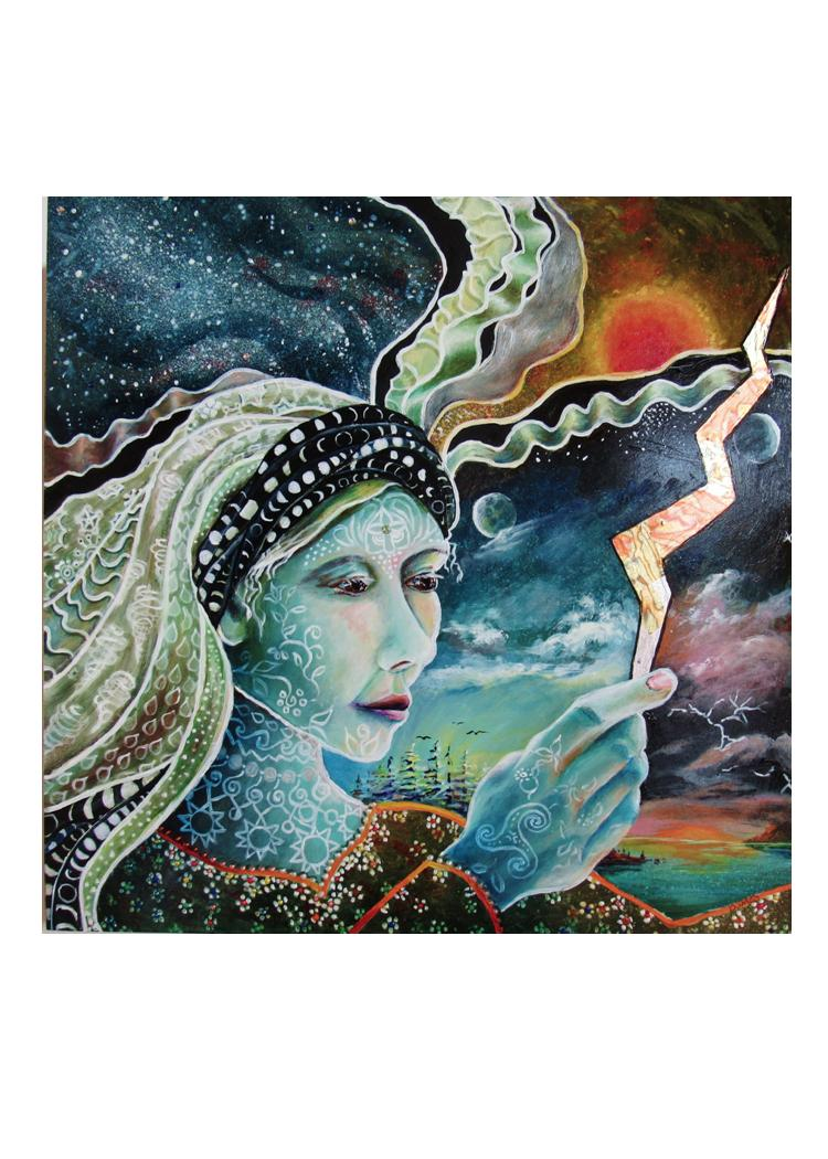 greeting card- #7 - Gaia #10- Perpetuity: S/He Who Orchestrates the Weather