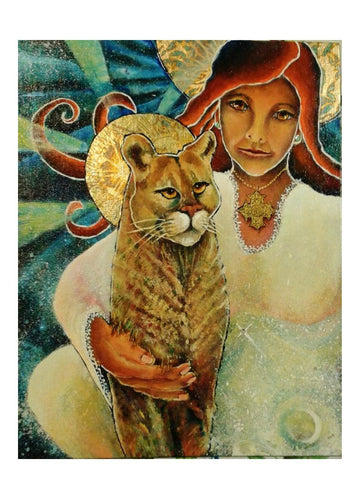 greeting card #18 - Gaia #45: S/He Who Cares for the Felines, Both Wild and Tame