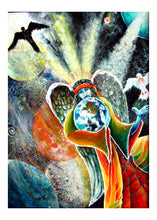 Load image into Gallery viewer, greeting card #31 - Gaia #50 - S/He Who Steps Into Life