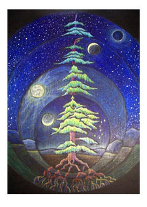 greeting card #43 - Cycles of the MoonTree