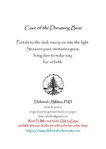 greeting card #47 - Cave of the Dreaming Bear