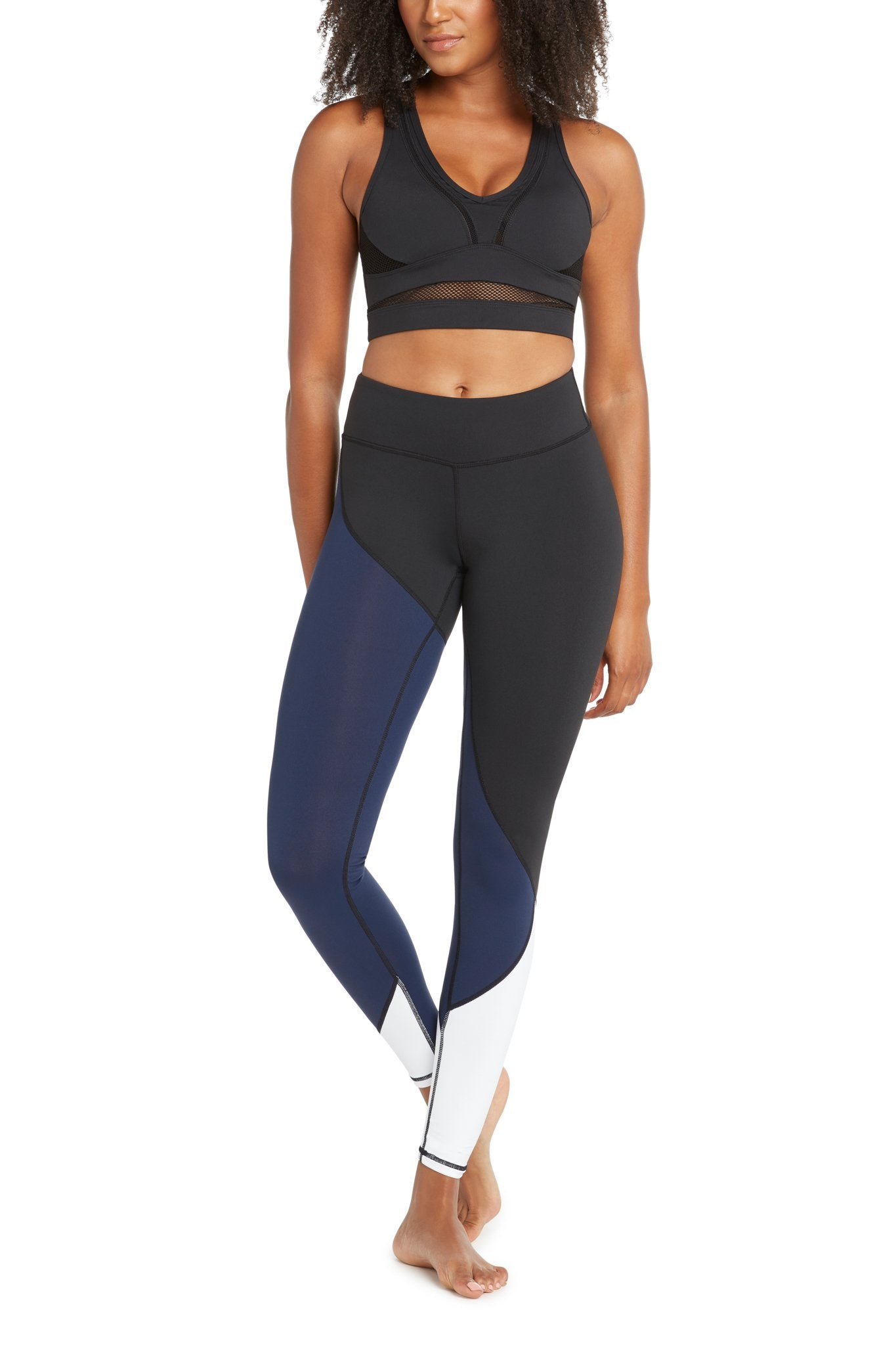 Bianca I Mid-Waist Color Block Women's Activewear Leggings