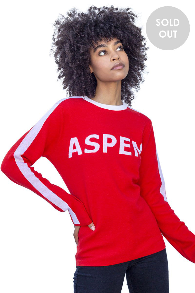 Aspen Merino Sweater Red Hot