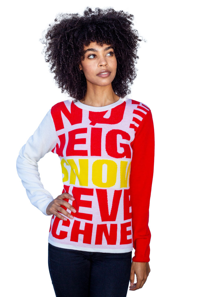 Graphic Women's Wool Sweater