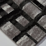Grand Square Grey Area Rug