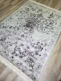 Esme Flatweave Grey Distressed Pattern Area Rug