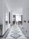 Casablanca Shaggy White Dark Blue Area Rug
