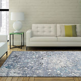 "Copacabana Area Rug ContemporaryGrey Area Rug for Living Room (3'11"" x 5'3"")"