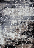 Sandbanks Dark Grey Black Abstract Area Rug