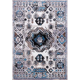 Athens Turquoise Gray Geometric Traditional Area Rug