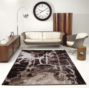 Anise Dark Brown Caramel Cream Area Rug -