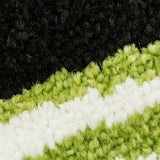 Bravo Green Abstract Area Rug