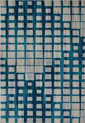 Eaton Centre Blue Beige Area Rug -