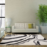 Calvin Cream Abstract Area Rug -