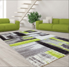 Copper Abstract Area Rug Grey Green -
