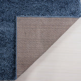 "Ladole Rugs Solid Color Shaggy Meknes Durable Beautiful Turkish Indoor Small Mat Doormat Rug in Blue, 1'10"" x 2'11"" (57cm x 90cm)"