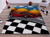 Red Car Kids Area Rug
