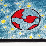 Blue Yellow Universe Area Rug