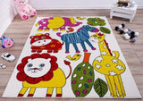 Cream Multi Animals Area Rug