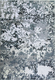 Oshawa White Grey Abstract Area Rug -