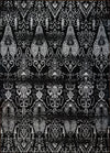 Patina Black Grey Area Rug -