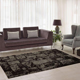 Patch Brown Micro Fiber Shaggy Area Rug -