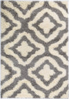 Grey Cream Trellis Area Rug