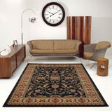 Swallowtail Traditional Dark Grey Area Rug -