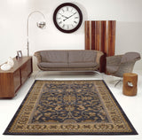 Swallowtail Traditional Grey Cream Area Rug -